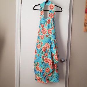 lindy bop sarong dress Hawaiian print size medium